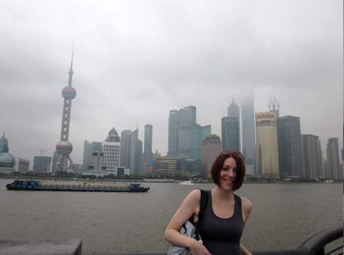 Shanghai China Travel: Standing Near the Bund