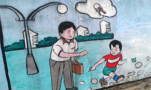 Beijing Travel: XiZhaZi Second District Wall Murals