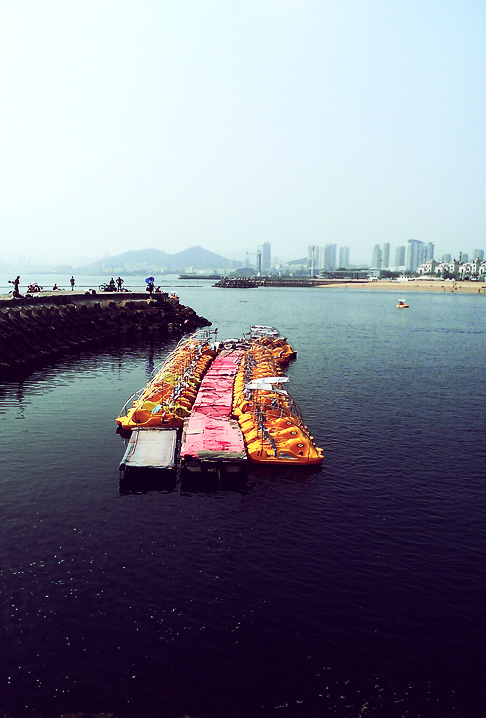 Dalian China travel: Xinghai bay in Bohai sea