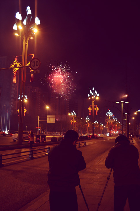 Chinese new year fireworks 2013 in Chengdu