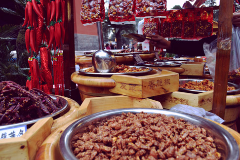 China sichuan travel blog: beef jerky in Chengdu