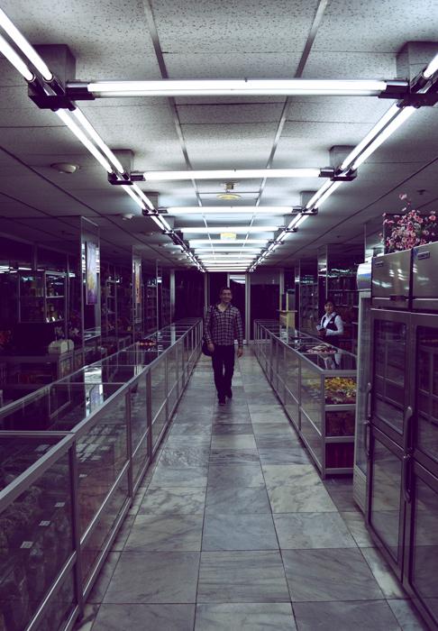 Traveling to North Korea: Yanggakdo hotel shop