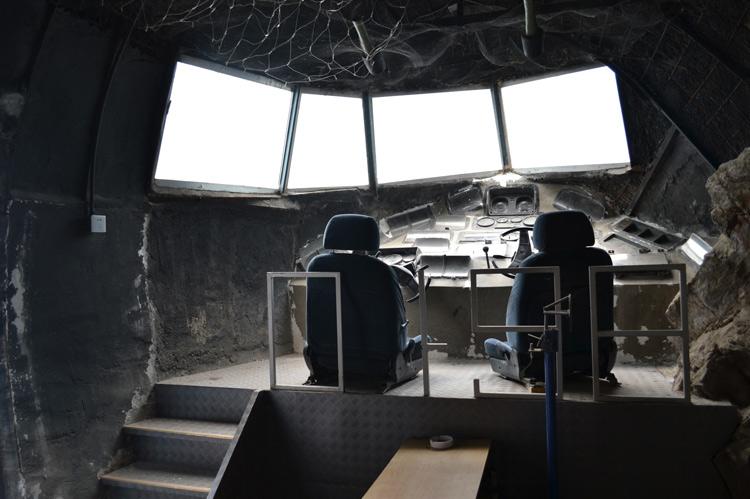 Urban exploring China Beijing: Abandoned army bar Lin Biao